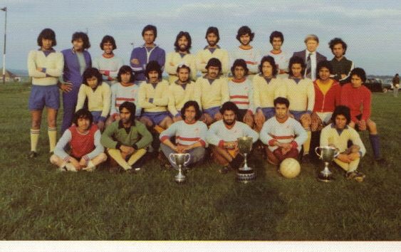 The A and B team in a rare club picture from 1976 to 1978