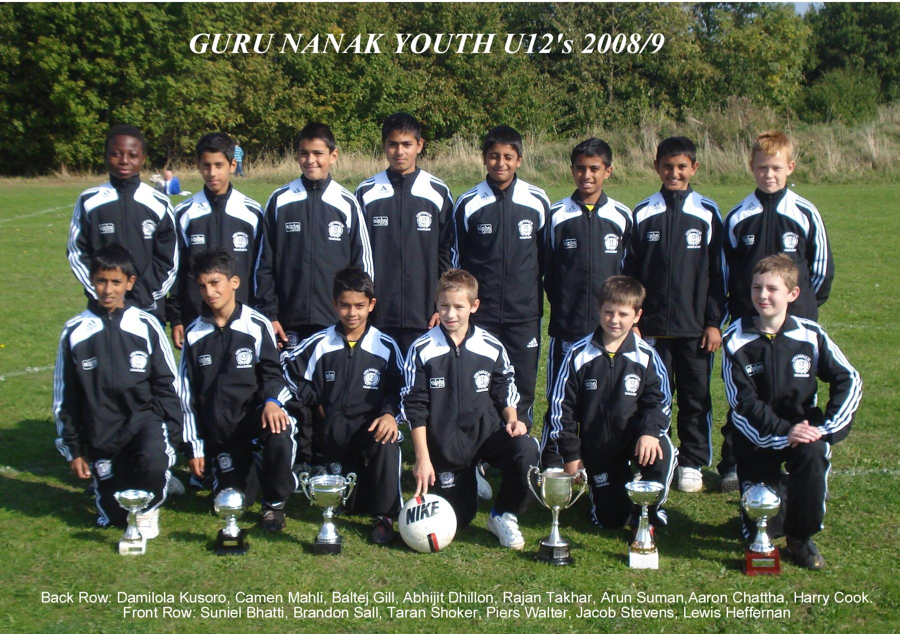 Under 12's 2008/09