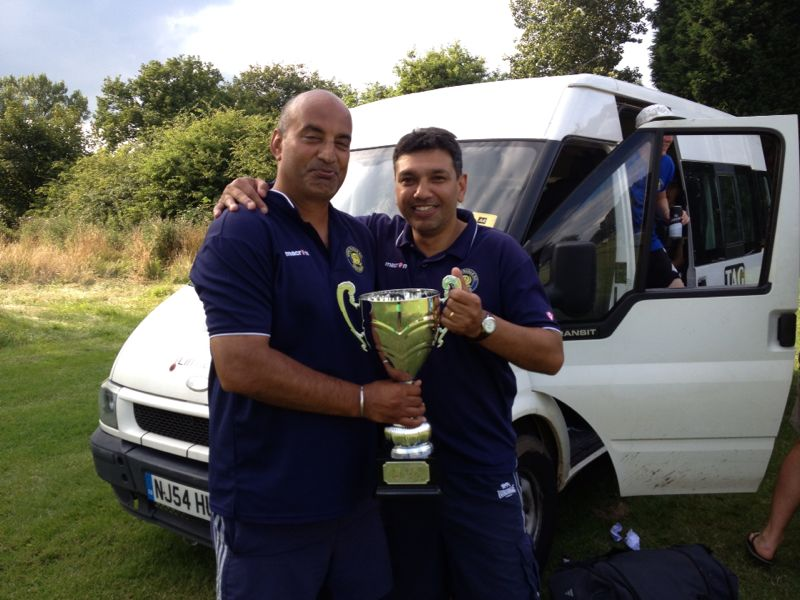 Ninder & Bal with the Runners Up Cup - Birmingham 2014