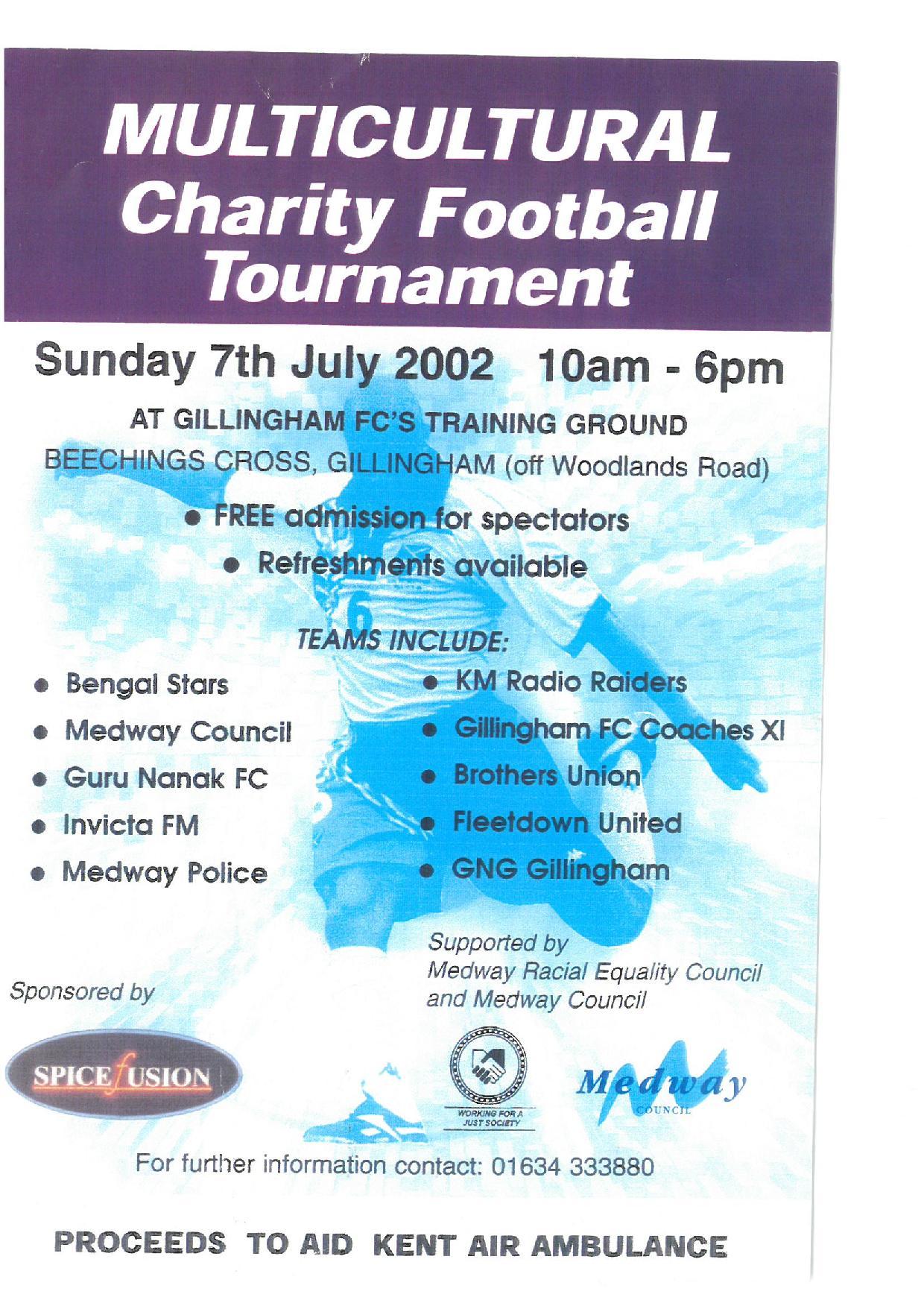 Gillingham Multi Cultural Tournament 2002