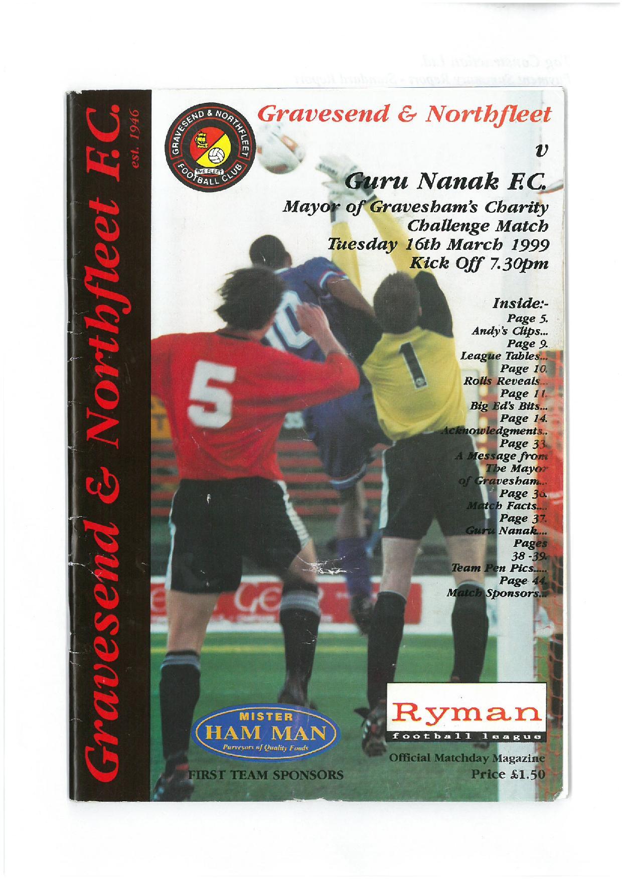Mayors X1 Match 1999