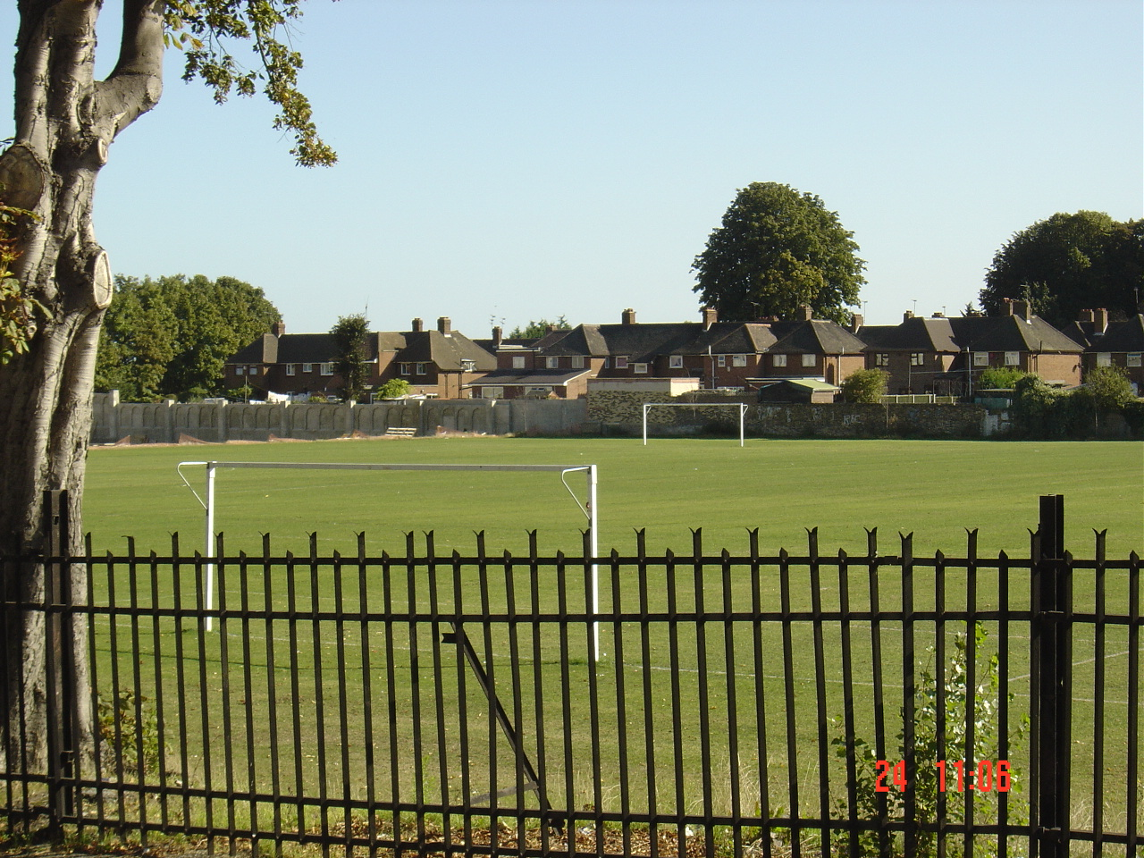 New Pitches at the barracks 2005