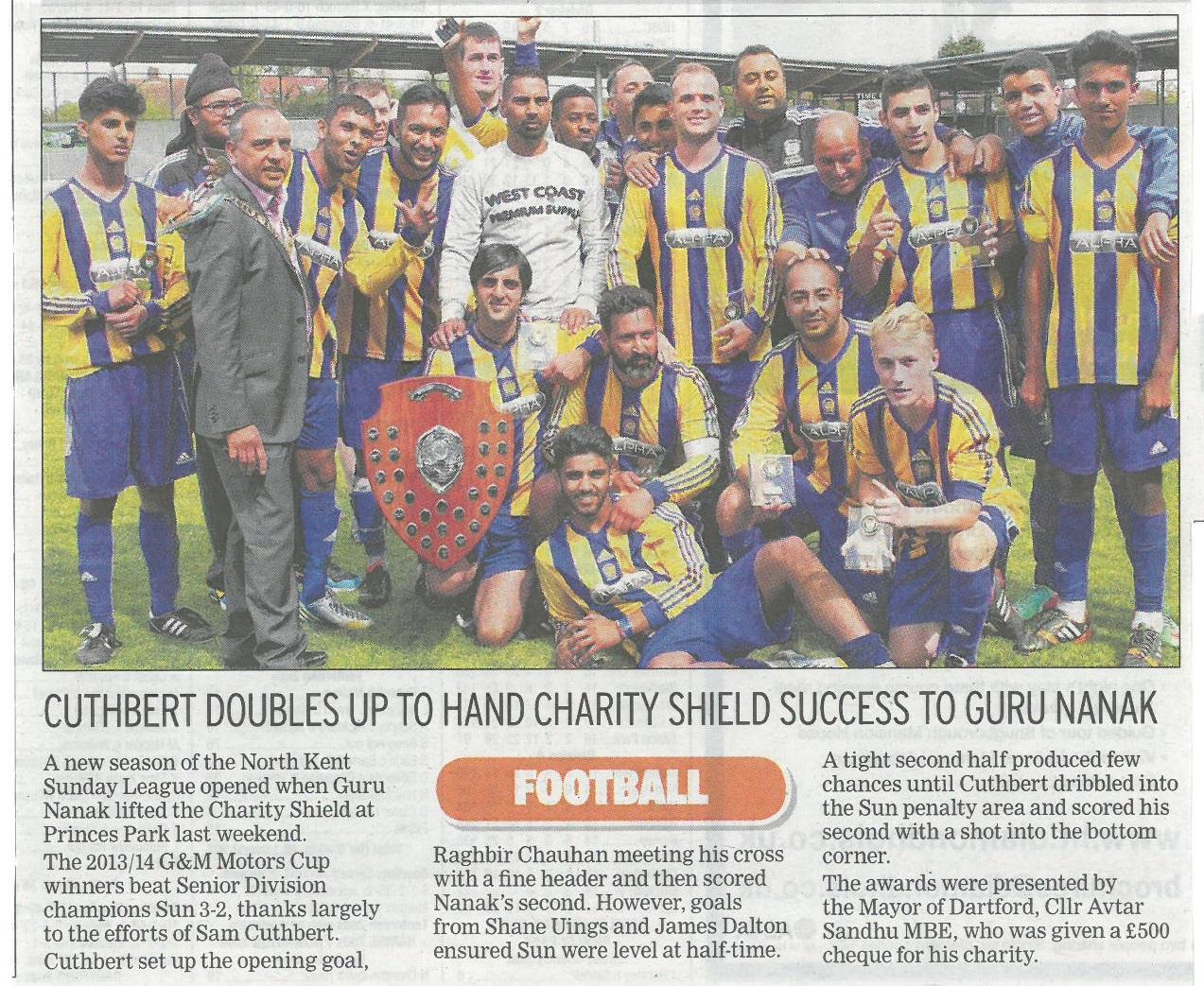 The Messenger - NKSL Charity Shield Winners 2014