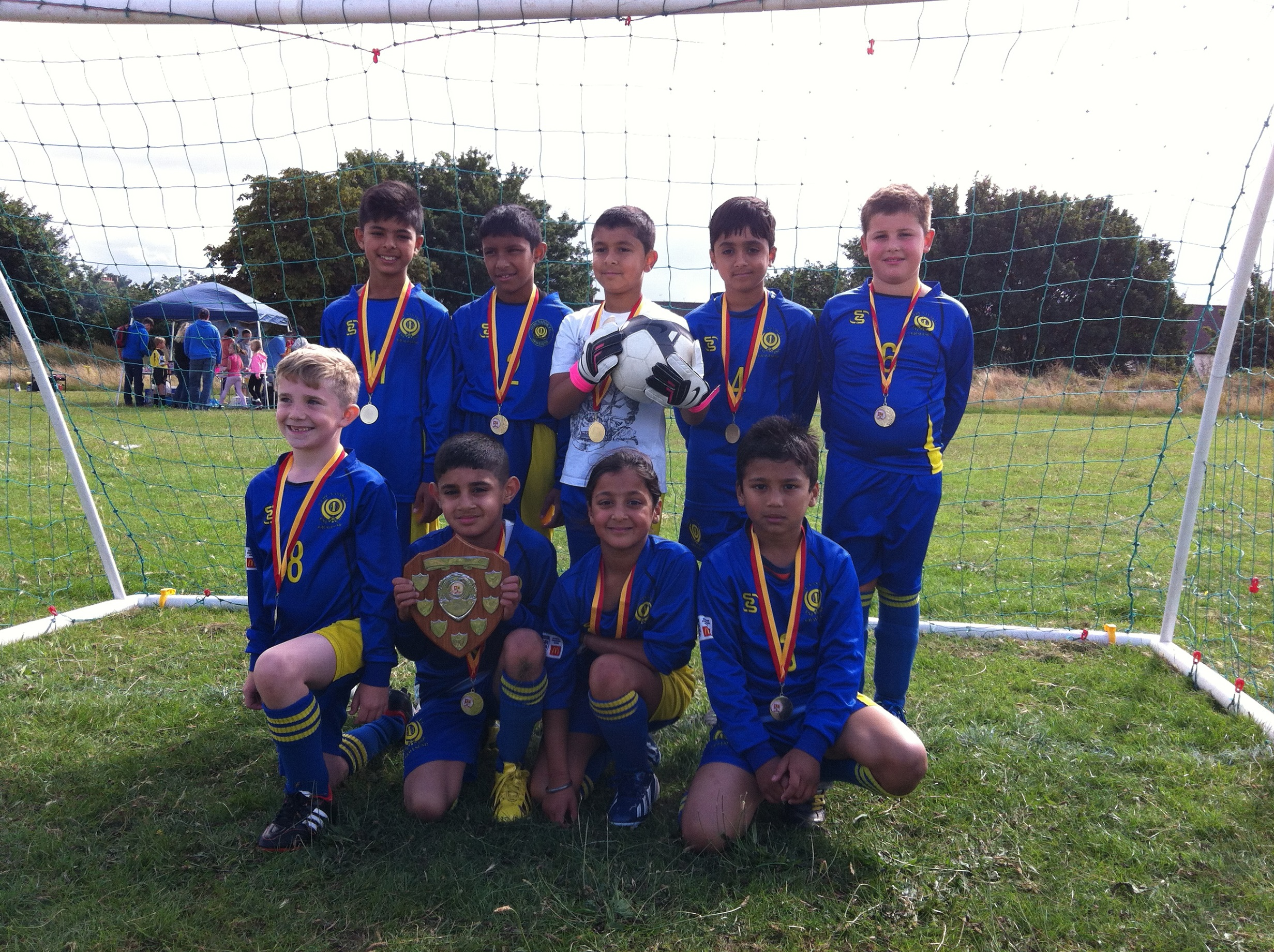 2013/14 Under 9's Charity Shield Winners
