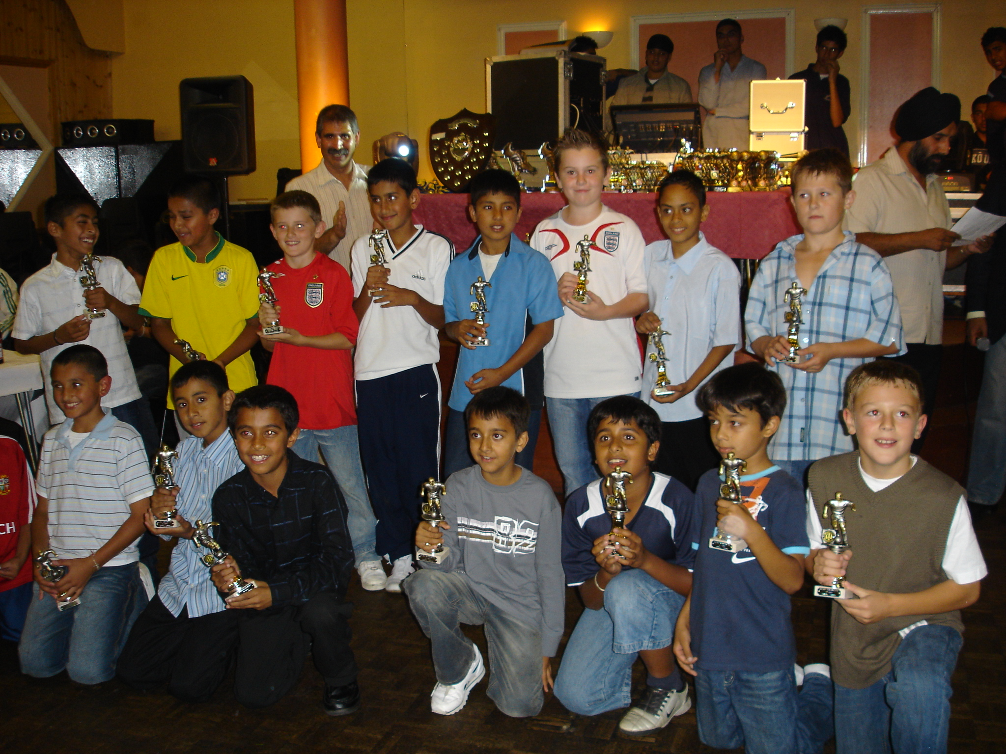 Under 9's & 10's with their awards