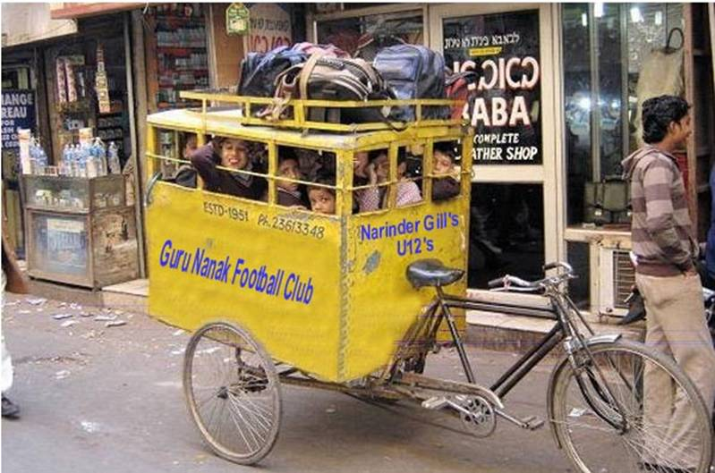 Narinder Gill's New Mini-Bus for the Under 12's