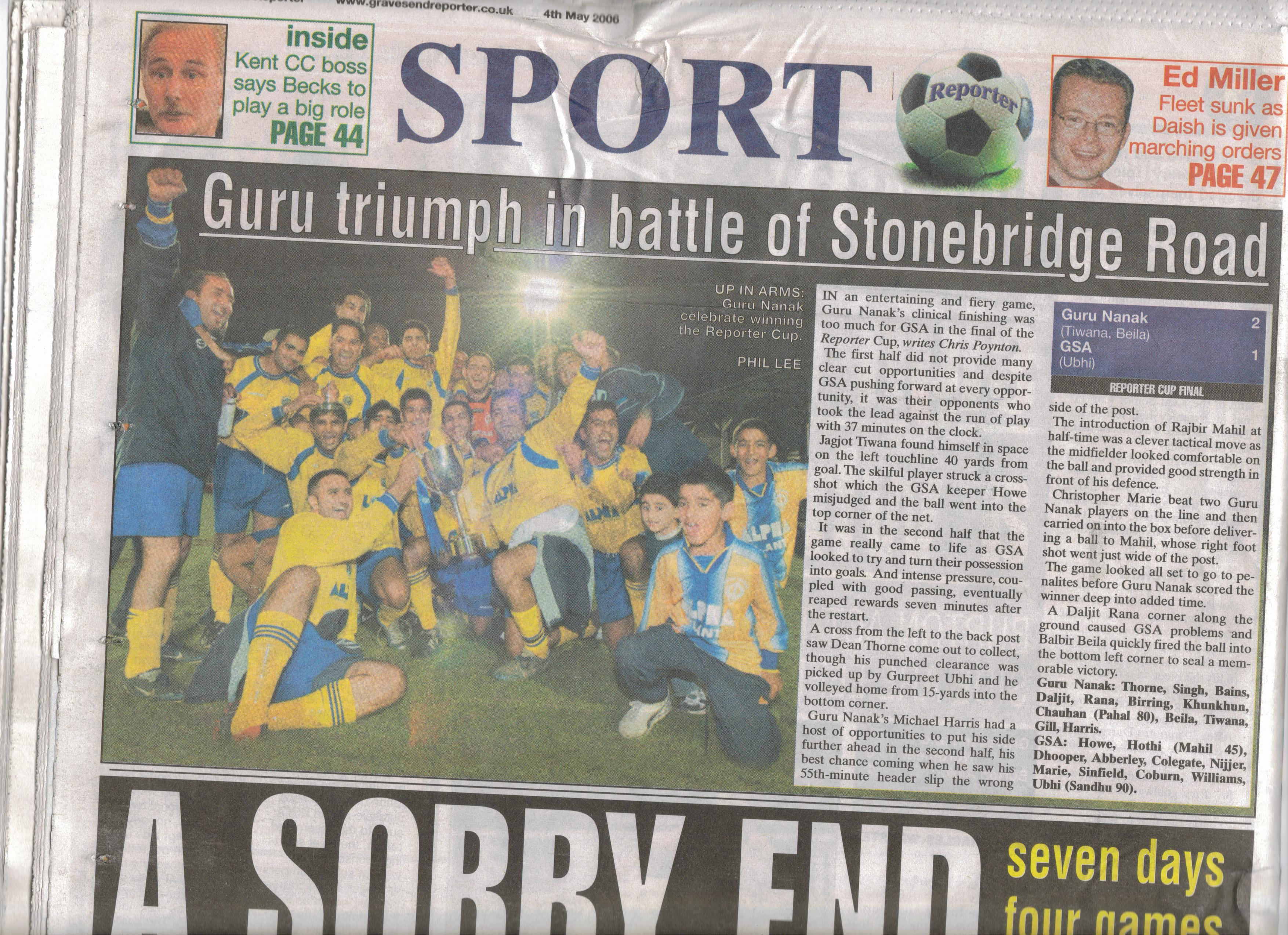 Reporter Cup Champions 2006