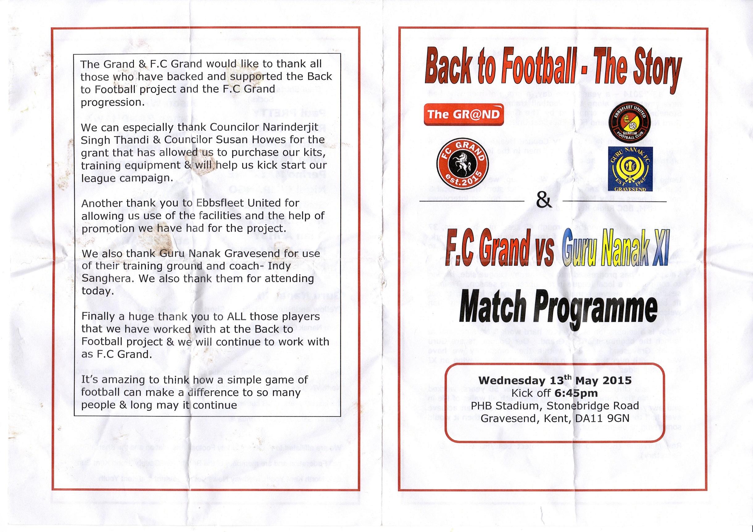 FC Grand V Gurus X1 2015