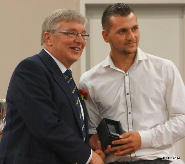 Tommy Vine Top Kent League Scorer 28 Goals June 2014 Kent League Presentation